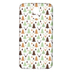 Reindeer Christmas Tree Jungle Art Samsung Galaxy S5 Back Case (white)
