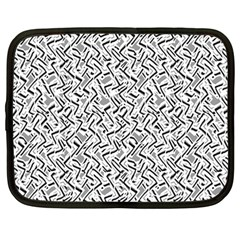 Wavy Intricate Seamless Pattern Design Netbook Case (large)