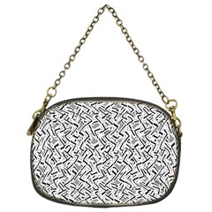 Wavy Intricate Seamless Pattern Design Chain Purses (one Side)