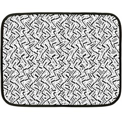 Wavy Intricate Seamless Pattern Design Double Sided Fleece Blanket (mini)