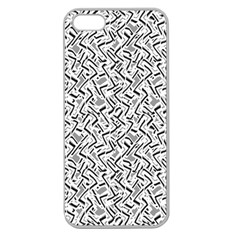 Wavy Intricate Seamless Pattern Design Apple Seamless Iphone 5 Case (clear)