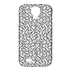 Wavy Intricate Seamless Pattern Design Samsung Galaxy S4 Classic Hardshell Case (pc+silicone)