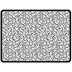 Wavy Intricate Seamless Pattern Design Double Sided Fleece Blanket (large)