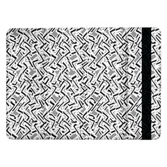 Wavy Intricate Seamless Pattern Design Samsung Galaxy Tab Pro 12 2  Flip Case