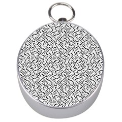 Wavy Intricate Seamless Pattern Design Silver Compasses