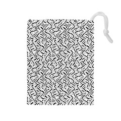 Wavy Intricate Seamless Pattern Design Drawstring Pouches (large)