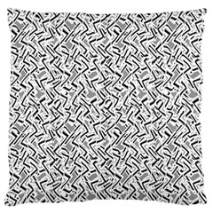 Wavy Intricate Seamless Pattern Design Large Flano Cushion Case (one Side)
