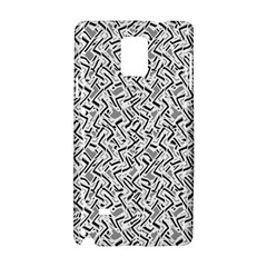 Wavy Intricate Seamless Pattern Design Samsung Galaxy Note 4 Hardshell Case