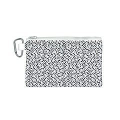 Wavy Intricate Seamless Pattern Design Canvas Cosmetic Bag (s)