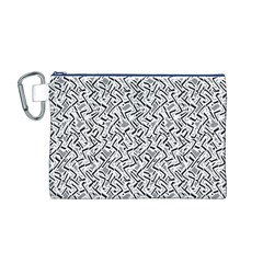 Wavy Intricate Seamless Pattern Design Canvas Cosmetic Bag (m)
