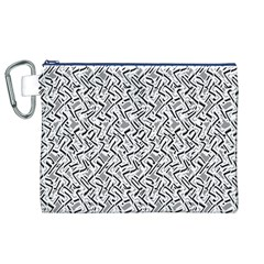 Wavy Intricate Seamless Pattern Design Canvas Cosmetic Bag (xl)