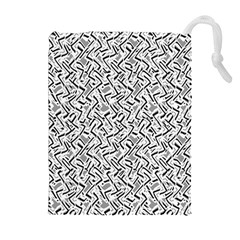 Wavy Intricate Seamless Pattern Design Drawstring Pouches (extra Large)
