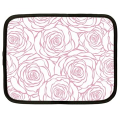 Pink Peonies Netbook Case (xl)