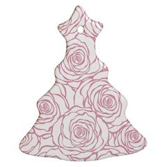 Pink Peonies Christmas Tree Ornament (two Sides)