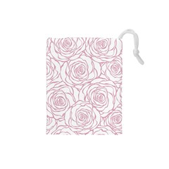 Pink Peonies Drawstring Pouches (small)