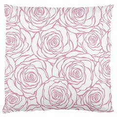Pink Peonies Large Flano Cushion Case (one Side)