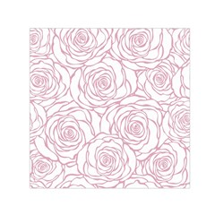 Pink Peonies Small Satin Scarf (square)