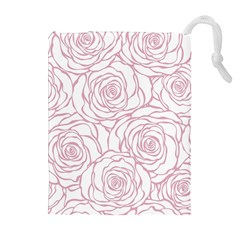 Pink Peonies Drawstring Pouches (extra Large)
