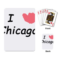 I Heart Chicago  Playing Card