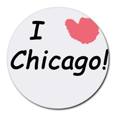 I Heart Chicago  Round Mousepads