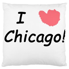 I Heart Chicago  Large Flano Cushion Case (two Sides)