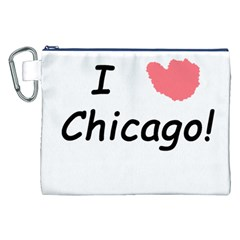 I Heart Chicago  Canvas Cosmetic Bag (xxl)