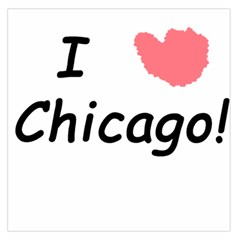 I Heart Chicago  Large Satin Scarf (square)