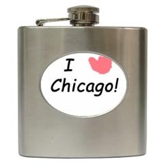 I Heart Chicago  Hip Flask (6 Oz)