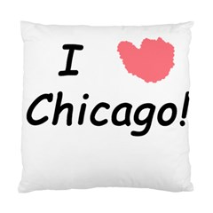 I Heart Chicago  Standard Cushion Case (one Side)