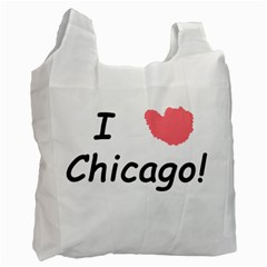 I Heart Chicago  Recycle Bag (two Side)