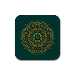 Snow Flower In A Calm Place Of Eternity And Peace Rubber Coaster (square)