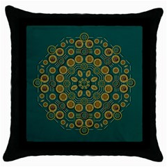 Snow Flower In A Calm Place Of Eternity And Peace Throw Pillow Case (black)