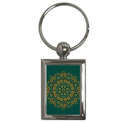 Snow Flower In A Calm Place Of Eternity And Peace Key Chains (rectangle)