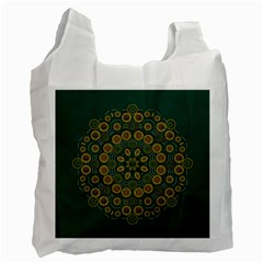 Snow Flower In A Calm Place Of Eternity And Peace Recycle Bag (two Side)