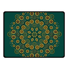 Snow Flower In A Calm Place Of Eternity And Peace Fleece Blanket (small)
