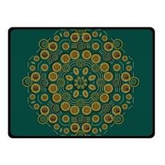 Snow Flower In A Calm Place Of Eternity And Peace Double Sided Fleece Blanket (small)