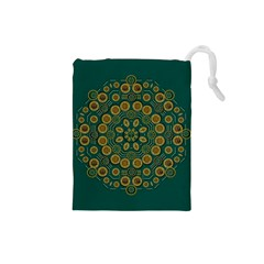 Snow Flower In A Calm Place Of Eternity And Peace Drawstring Pouches (small)