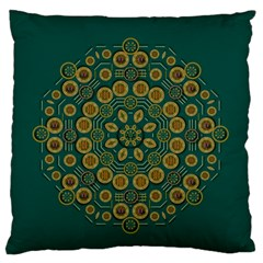 Snow Flower In A Calm Place Of Eternity And Peace Large Flano Cushion Case (two Sides)