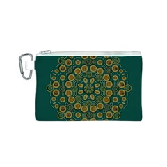 Snow Flower In A Calm Place Of Eternity And Peace Canvas Cosmetic Bag (s)