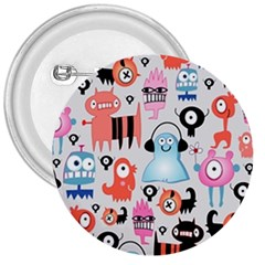 Funky Monsters Pattern 3  Buttons