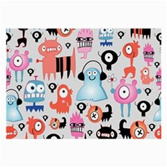 Funky Monsters Pattern Large Glasses Cloth (2 Side)
