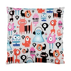 Funky Monsters Pattern Standard Cushion Case (two Sides)