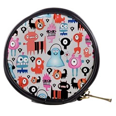 Funky Monsters Pattern Mini Makeup Bags