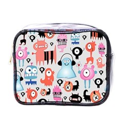 Funky Monsters Pattern Mini Toiletries Bags