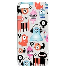 Funky Monsters Pattern Apple Iphone 5 Hardshell Case With Stand