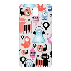 Funky Monsters Pattern Samsung Galaxy Note 3 N9005 Hardshell Back Case