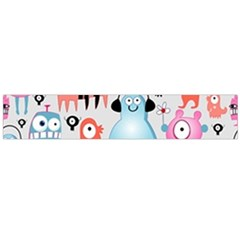 Funky Monsters Pattern Large Flano Scarf