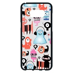 Funky Monsters Pattern Samsung Galaxy S8 Plus Black Seamless Case