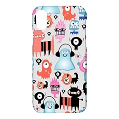 Funky Monsters Pattern Apple Iphone X Hardshell Case