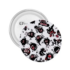 Goofy Monsters Pattern  2 25  Buttons